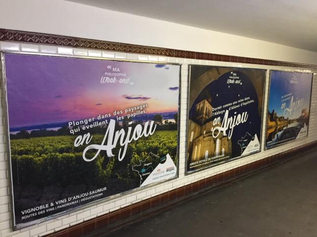 L'Anjou dans le métro