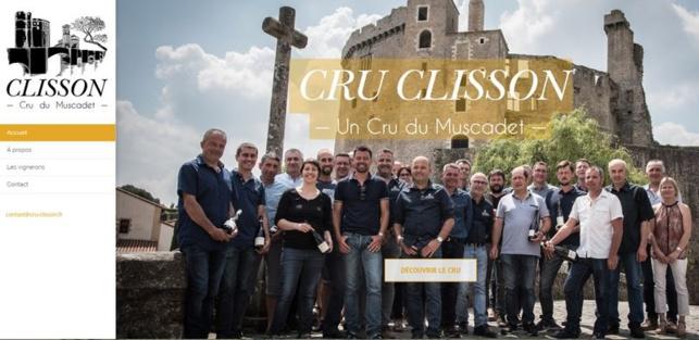 Les vignerons du cru Clisson s'affichent sur la page d'accueil de leur nouveau site web.