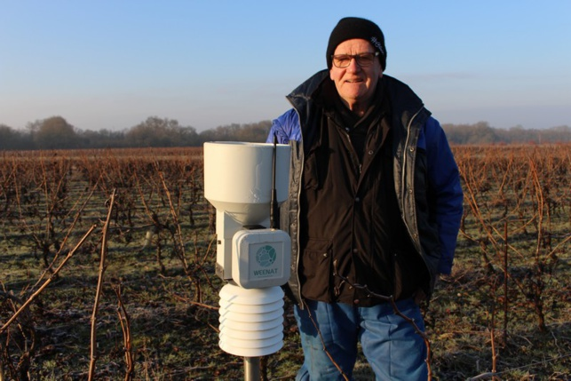 Jean-Pierre Florance teste depuis un an le capteur météo de Weenat.
