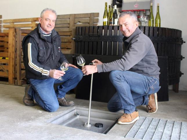 Christophe et Thierry Martin, lauréats 2019, exploitent 32 hectares de vignes à Gorges.