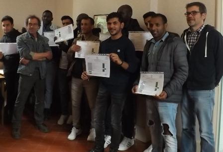 En mai dernier, un premier groupe de réfugiés avait achevé leur formation au LPA d'Amboise.