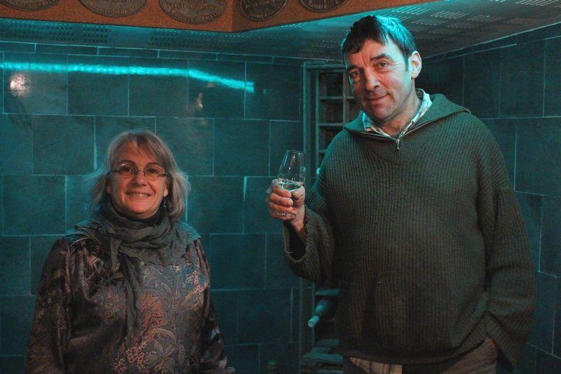 Patricia et Yves Bretonnière ont reçu 11 000 € du Département pour la rénovation de leur cave et d'un gîte.