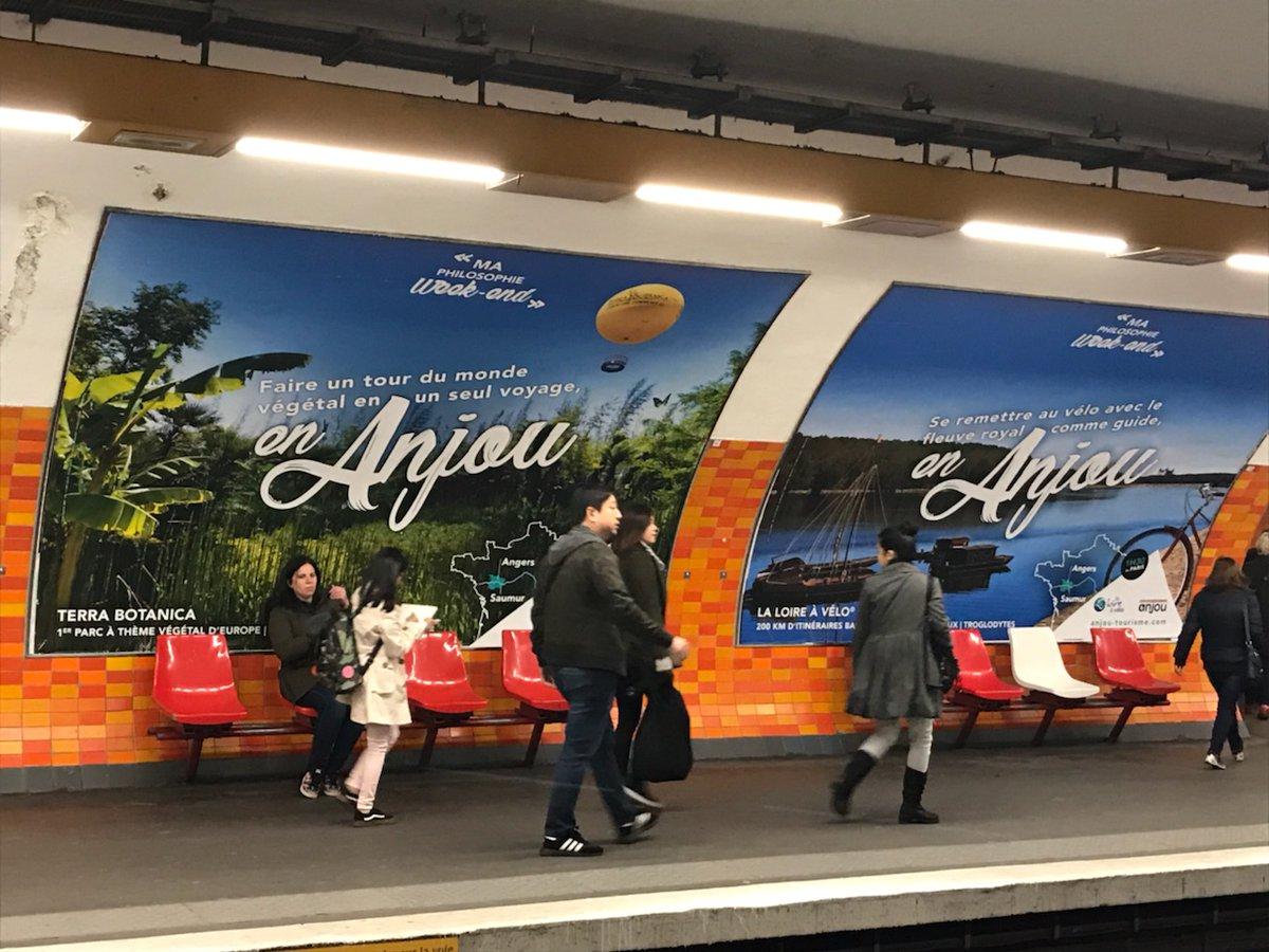 Pour la deuxième année, les ambassadeurs touristiques de l'Anjou font campagne à Paris.